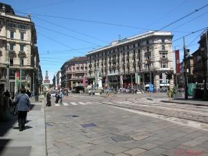 View down via Dante from Piazza Cordusio, Milan (Photo: S.K. Meyer ©)