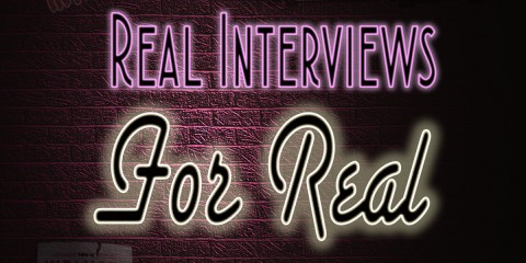 Real Interviews For Real Podcast Title Treatment