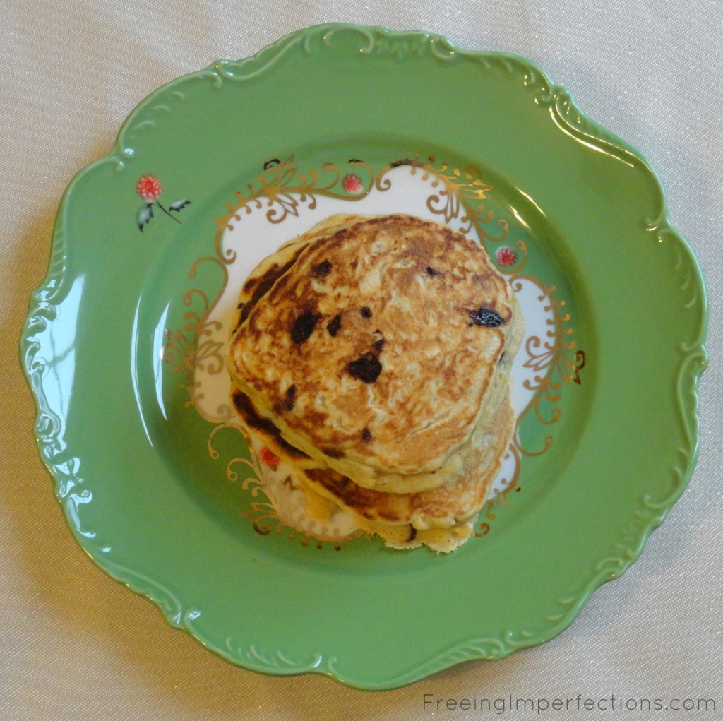 Single Serving Whole Wheat Oat Pancakes