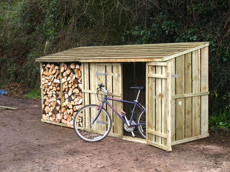 bike shed and log store
