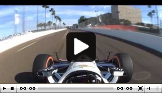 Video: Will Power's record St. Pete lap