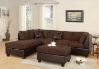 Microfiber Sofa & Ottoman Set F7615