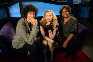 Howard Stern, Madonna and Robin Quivers. Photo: www.howardstern.com.