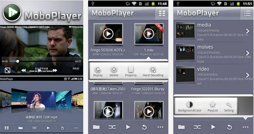 MoboPlayer pemutar video dengan Subtitle di android