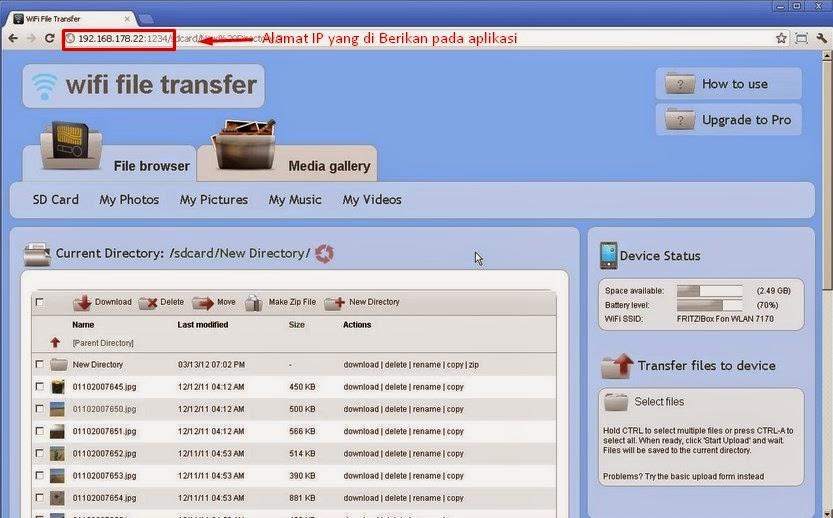 Mengirim File dari HP ke PC Menggunakan Wifi