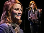 LOS ANGELES, CA - APRIL 07:  Amy Poehler performs onstage during the celebration of The 60th Anniversary of Allen Ginsberg's Howl with Music, Words, and Funny People held at The Ace Hotel Theater on April 7, 2015 in Los Angeles, California.  (Photo by Michael Tran/FilmMagic)