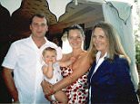 Facebook picture of Kate Moss with her mother and brother Nick (date unknown)
