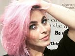 """""""Pink hair don't care! Check out my new fun hair and get @riawnacapri's fabulous tips on becoming a """"unicorn."""" juliannehough.com (link in profile)"""" April 7, 2015"""