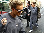 Little Mix seen leaving a recording studio. Perrie sporting a grey Converse tracksuit, Ray Ban Wayfarer sunglasses and carrying a Burberry handbag\nFeaturing: Perrie Edwards, Jesy Nelson\nWhere: London, United Kingdom\nWhen: 08 Apr 2015\nCredit: WENN.com