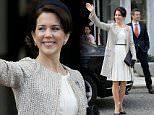 AARHUS, DENMARK - APRIL 8:   Crown Princess Mary of Denmark, attends a Lunch reception to mark the forthcoming 75th Birthday of Queen Margrethe II of Denmark. at Aarhus City Hall. on April 8, 2015 in Aarhus, Denmark (Photo by Julian Parker/UK Press via Getty Images)