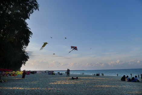 pantai-batu-buruk-beach-kuala-terengganu.jpg, The beach is close to city center. The name literally means Beach of the Ugly Stone. It is popular to visit by the locals but it is considered too dangerous for swimming.