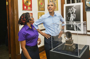 President Obama Visits Bob Marley Museum in Jamaica