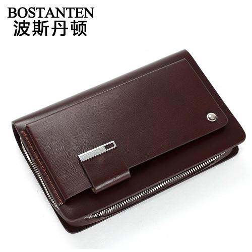波斯丹顿B20220商务英伦风大容量男士手拿包