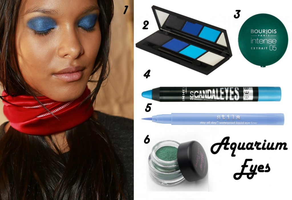 Five Beauty Trends For Spring 2014 - Aquarium Eyes