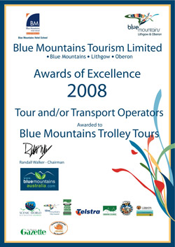 Blue Mountains Tourisim Award