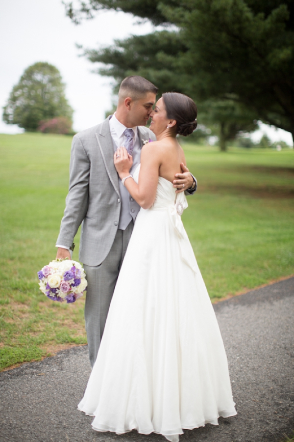 beautiful bride, handsome groom, a Marine and his sweetheart, classic purple and gray wedding, Abby Grace Photography