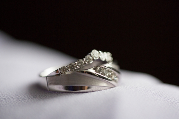 wedding rings shot, classic purple and gray wedding, Abby Grace Photography