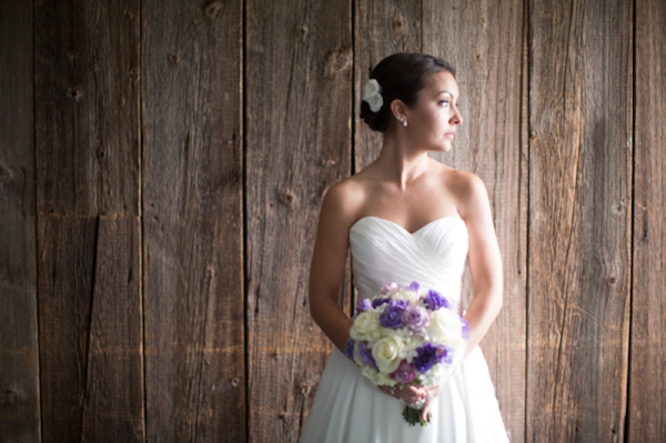 beautiful bride, purple and white rose bouquet, bridal portraits, classic purple and gray wedding, Abby Grace Photography