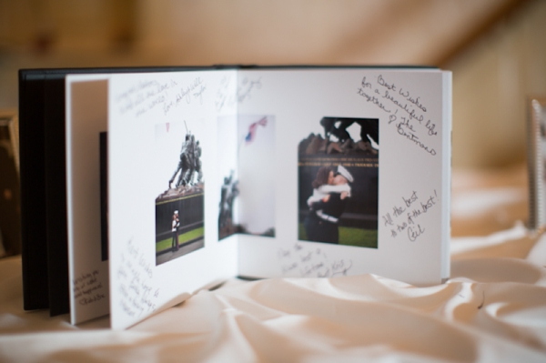engagement photo album guest book, classic purple and gray wedding, Abby Grace Photography