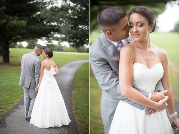 bride and groom, a Marine and his sweetheart, classic purple and gray wedding, Abby Grace Photography