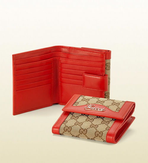 gucci script flap french wallet 1425