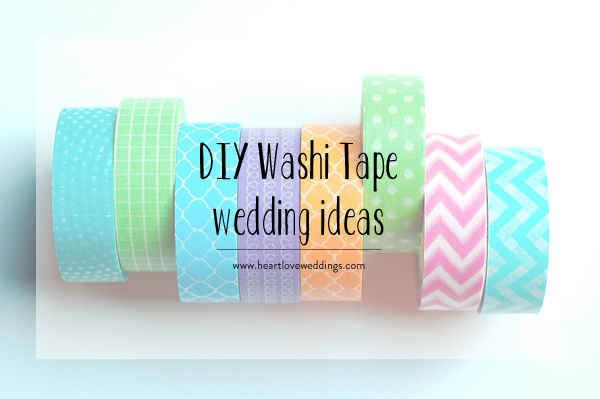 DIY Washi Tape Wedding Ideas