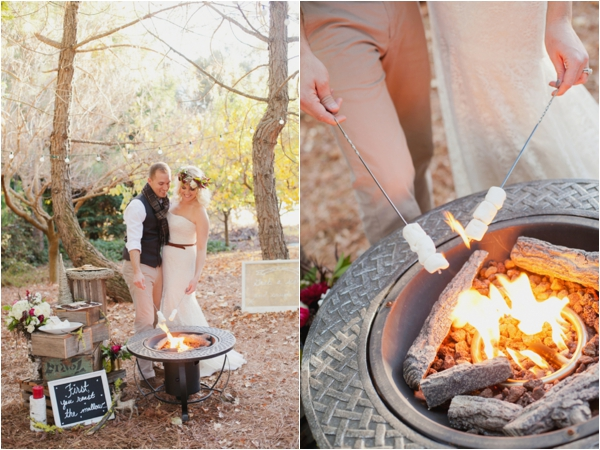rustic-christmas-wedding-ideas-making-smores