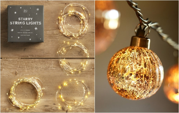 resources for twinkle lights - Restoration Hardware and Pottery Barn