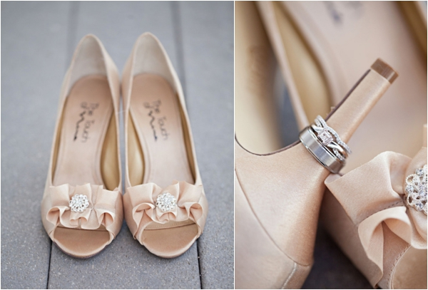 bride's shoes, diamond engagement and wedding rings, shoe shot ring shot, rustic turquoise California wedding, Mirelle Carmichael Photography