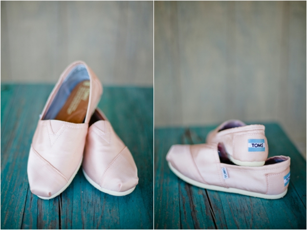 pink wedding TOMS