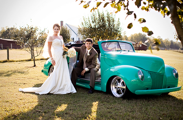 vintage teal Ford convertible, Katelyn James Photography, Jasmine Star Photography