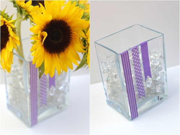 DIY Washi Tape Wedding Ideas, vase