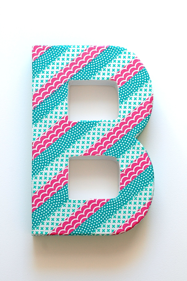 DIY Washi Tape Wedding Ideas, monogram