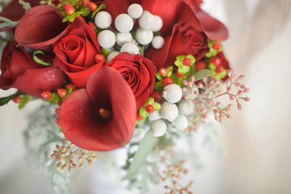 red rose and calla lily bouquet, Luminaire Foto