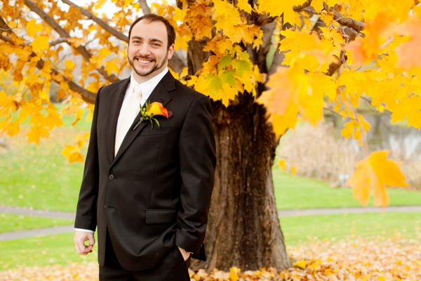 groom's attire, purple and orange New England fall wedding, Deborah Zoe Photography