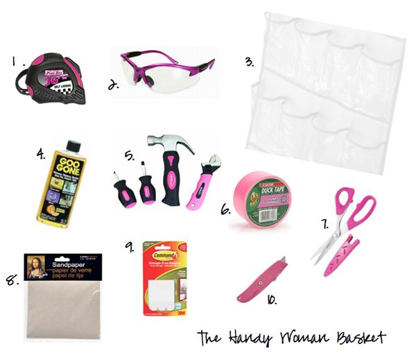 The Handy Woman Basket, Bridal Shower Basket Ideas, Bridal Shower Basket Inspiration, Bridal Shower Baskets, Basket Bridal Shower, Basket Bridal Shower Ideas, Basket Bridal Shower Inspiration