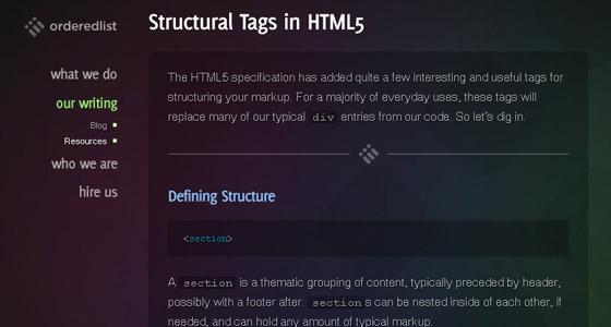 Fresh HTML5 Tutorial