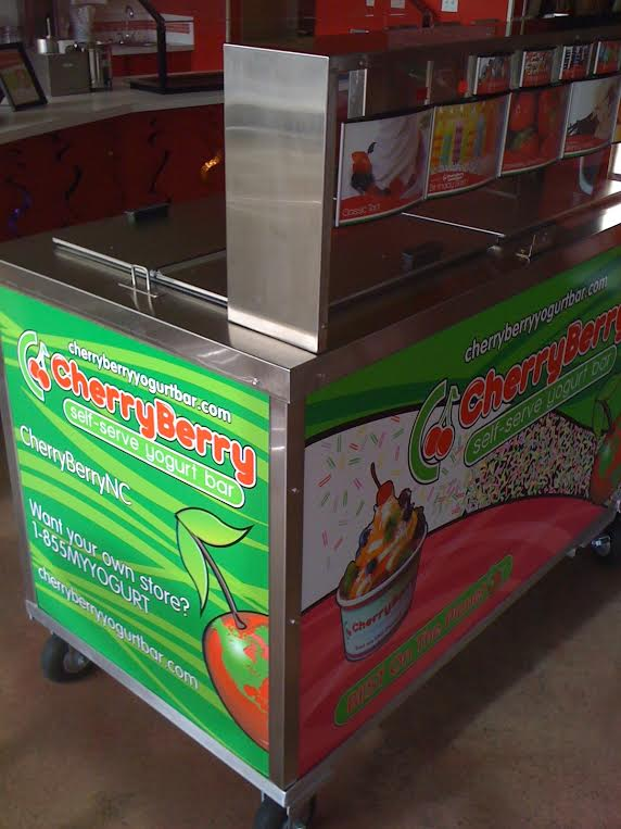 cherry berry yogurt cart