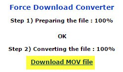 click on download MOV file