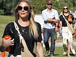 EXCLUSIVE: Leann Rimes at soccer game in Los Angeles, CA on April 12, 2015.  Pictured: Leann Rimes and Eddie Cibrian Ref: SPL997493  120415   EXCLUSIVE Picture by: Jacson / Splash News  Splash News and Pictures Los Angeles: 310-821-2666 New York: 212-619-2666 London: 870-934-2666 photodesk@splashnews.com