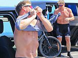 PREMIUM EXCLUSIVE - Gordon Ramsay hit Malibu for a bike ride.  The famous chef wore a sleeveless blue shirt with black biking shorts, on Sunday, April 12, 2015 X17online.com\nNO WEB SITE USAGE\nMAGAZINES DOUBLE FEES\nAny queries call X17 UK Office /0034 966 713 949/926 \nAlasdair 0034 630576519 \nGary 0034 686421720\nLynne 0034 611100011