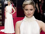 epa04702091 US actress Dianna Agron arrives for the 39th annual Olivier Awards at The Royal Opera House in London, Britain, 12 April 2015. The theatre awards is named after British actor Laurence Olivier.  EPA/HANNAH MCKAY