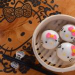 Hello Kitty流沙包 $62 造型一絲不苟,連麵糰都係特別配方,純天然色素,好似蝴蝶結係加入紅菜頭汁。