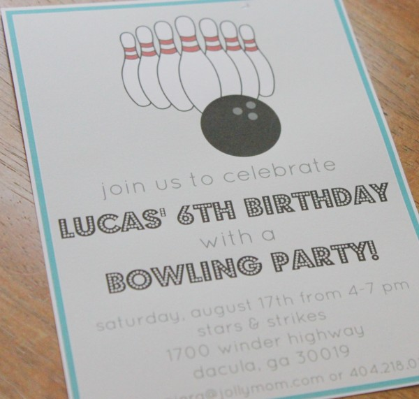 bowling birthday party free invitation party printables