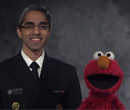 Read a blog post about Elmo, the Surgeon General, and the importance of getting vaccinated.