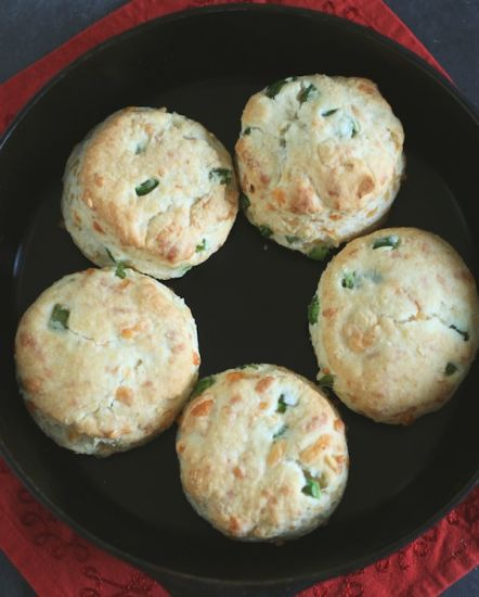 Homemade jalapeno-cheddar biscuits
