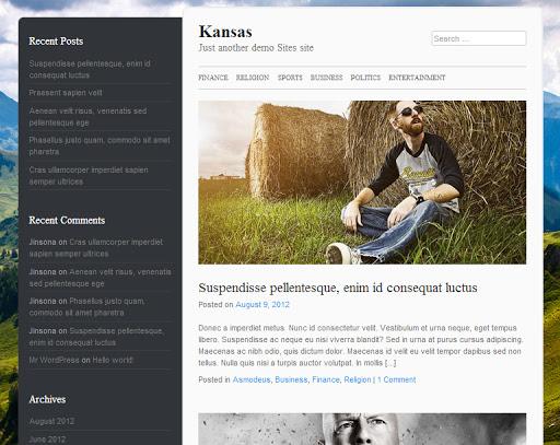 kansas En İyi WordPress Temaları 2013 (35 Adet)