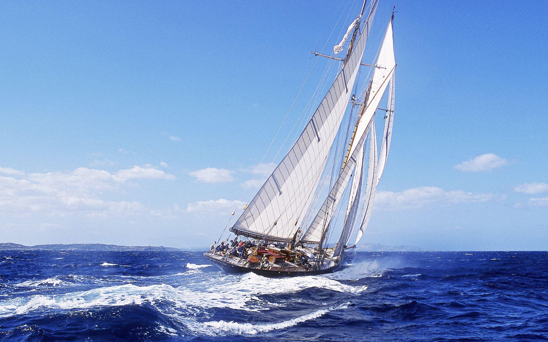 帆船起航 背景图片大全
