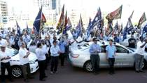 Uber riders 'up by 500 per cent' after taxi protest