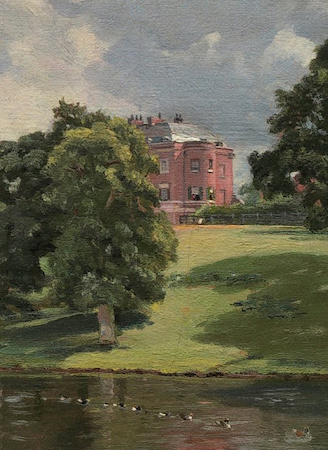 Country home (detail), John Constable, Wivenhoe Park, 1816, oil on canvas, 56.1 x 101.2 cm (National Gallery of Art)